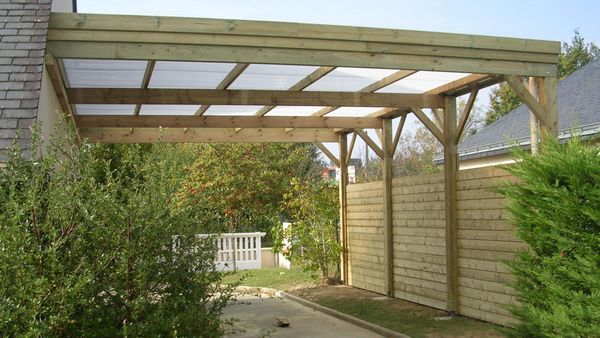 Carport garage for Construire un garage attenant a la maison