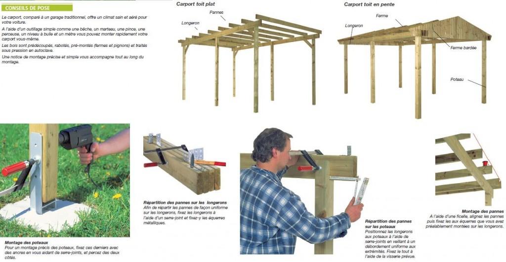 Notice pour monter son carport en bois