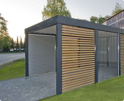 le carport en bois carport garage. Black Bedroom Furniture Sets. Home Design Ideas