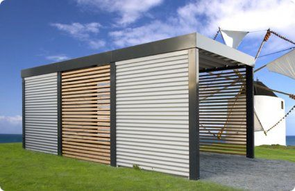 Exemple de carport moderne et design